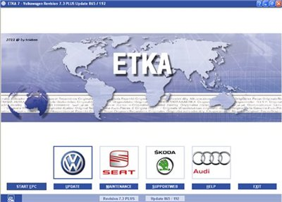 ETKA 7.3 Plus International 07/2011 + Online Updates