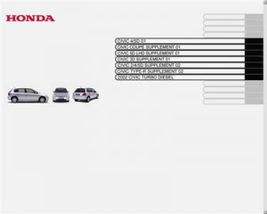 Honda Civic 2001-05.  Service Manual.