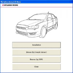 Mitsubishi Lancer X. Workshop Manual 2009.