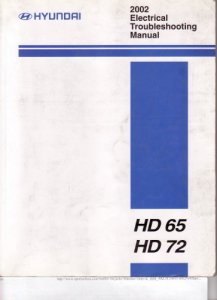 Hyundai HD65, HD72. Electrical Troubleshooting Manual (электрооборудование).