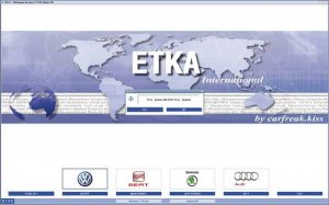 Каталог запчастей ETKA 7.3 и 7.4 International, Germany 08.2014 года